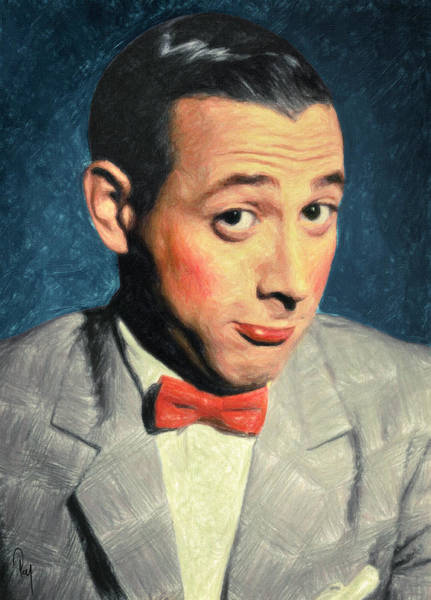 Wall Art - Painting - Pee-wee Herman by Zapista Zapista
