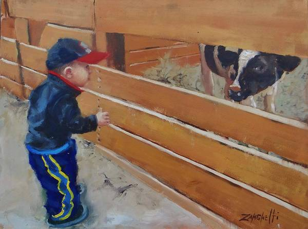 Pen Painting - Peekaboo by Laura Lee Zanghetti