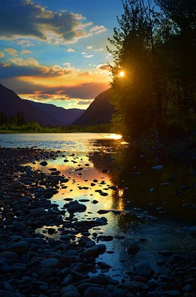 Photograph - Peek-a-boo Sunset On The Similkameen by Tara Turner