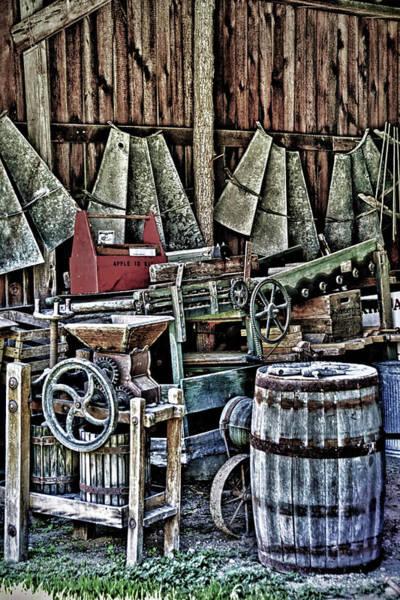 The Keg Photograph - Peek Inside The Barn by Pat Cook