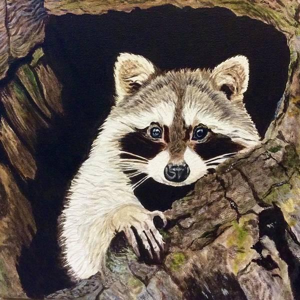 Painting - Peeking Out by Sonja Jones