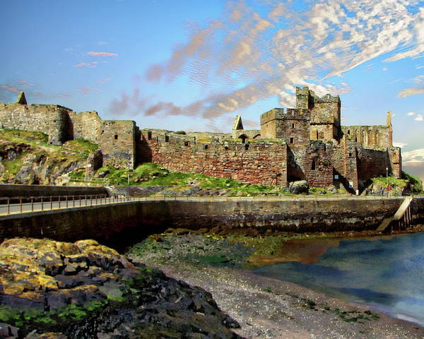 Photograph - Peel Castle by Anthony Dezenzio