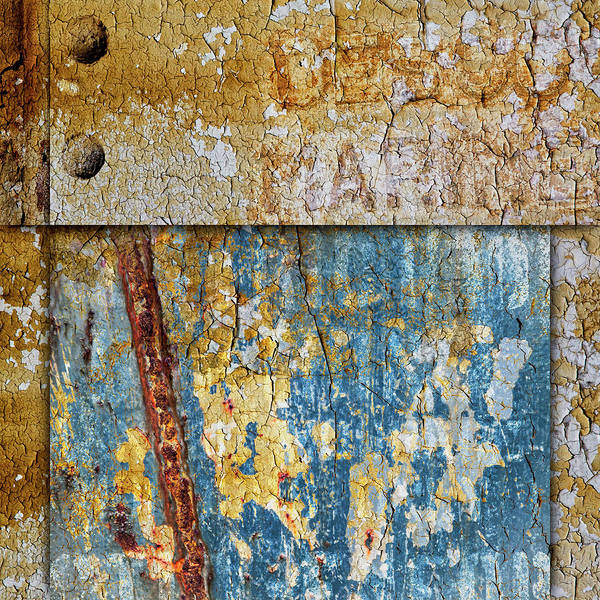 Wall Art - Mixed Media - Peeling Paint And Rusty Metal by Carol Leigh