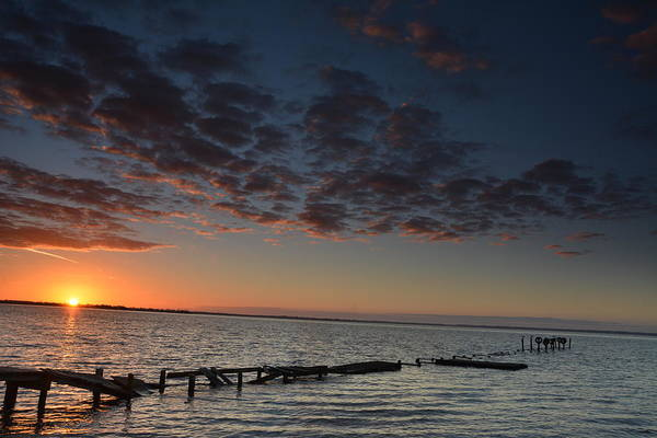Choctawhatchee Bay Photograph - Peeping Sun Rise by Charlie Day