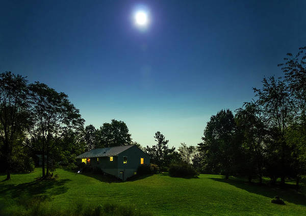 Photograph - Pegasus And Moon Over The Shenandoah Valley by Greg Reed