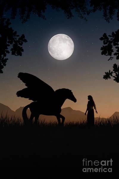 Digital Art - Pegasus by Clayton Bastiani