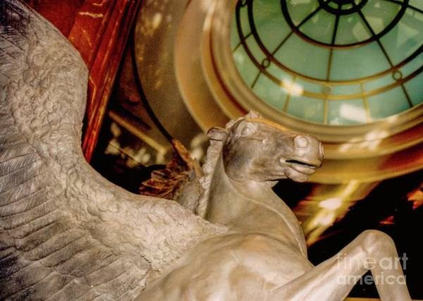 Photograph - Pegasus, Flying Winged Horse - Statue by D Davila