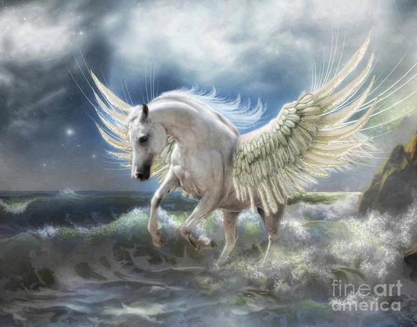Wall Art - Digital Art -  Pegasus Rising by Trudi Simmonds