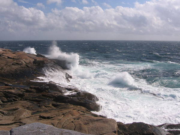 Photograph - Peggy's Cove Waves by Karen J Shine