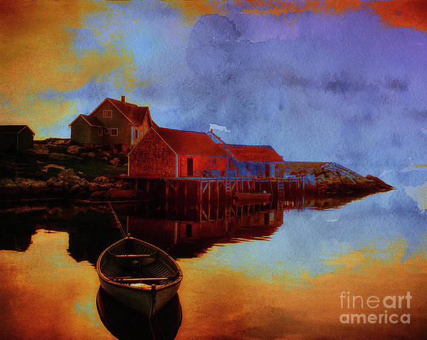 Digital Art - Peggy's Cove by Edmund Nagele