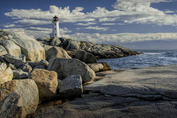 Photograph - Peggy's Cove Lighthouse In Canada by Randall Nyhof