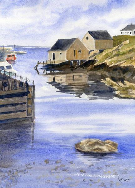 Halifax Wall Art - Painting - Peggys Cove by Marsha Elliott