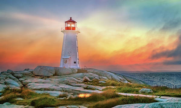 Photograph - Peggy's Cove Sunset by Tracy Munson