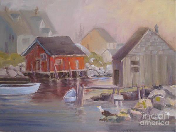Nova Scotia Painting - Peggy's Fog by Mohamed Hirji