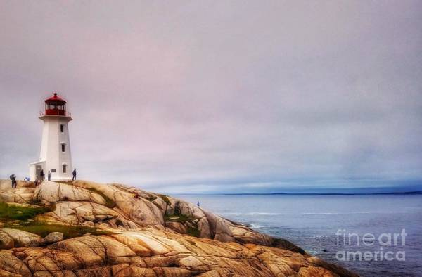 Peggys Point Lighthouse Art Print
