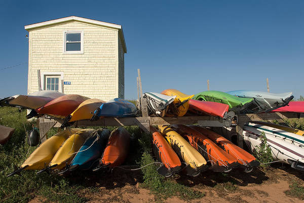 Photograph - Pei Kayaks Building And Sky by Steve Somerville