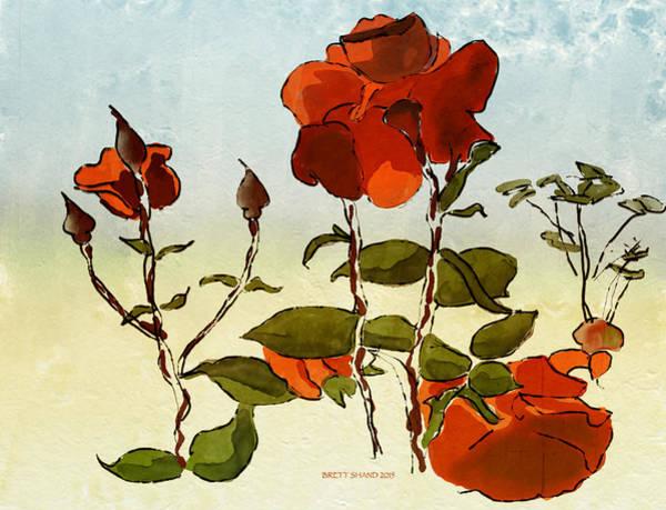 Photograph - Peka Peka Roses by Brett Shand