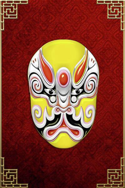 Digital Art - Peking Opera Face-paint Masks - Tuxing Sun by Serge Averbukh