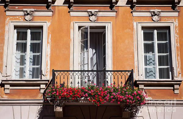 Wall Art - Photograph - Pelargonium Peltatum Flowers On Balcony  by Arletta Cwalina
