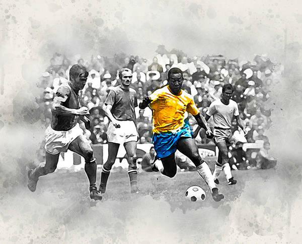 Pele Digital Art - Pele 1970 by Karl Knox Images