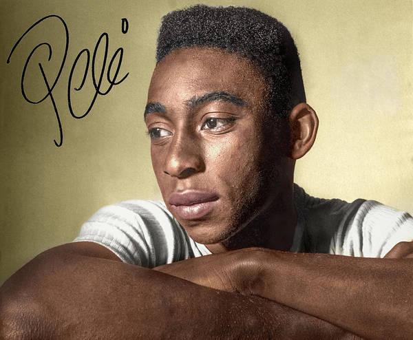 Pele Digital Art - Pele O Rei  by Franchi Torres