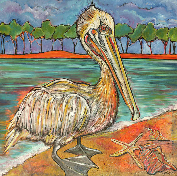 Wall Art - Painting - Pelican #2 by Arrin Burgand