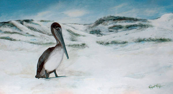 Gulf State Park Painting - Pelican At Topsail Hill State Park by Racquel Morgan