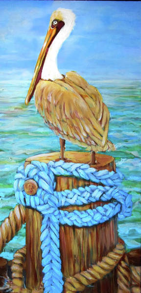 Painting - Pelican by Cora Marshall
