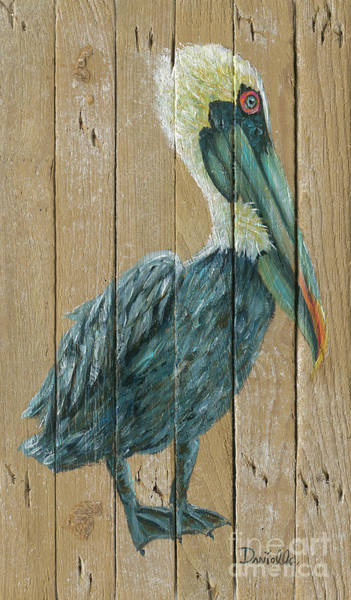 Recycle Painting - Pelican by Danielle Perry