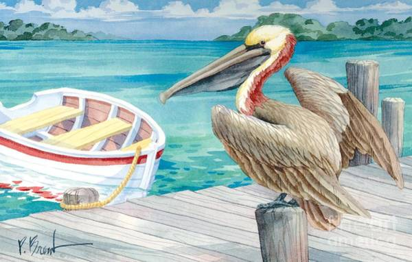 Brown Pelicans Wall Art - Painting - Pelican Dory by Paul Brent