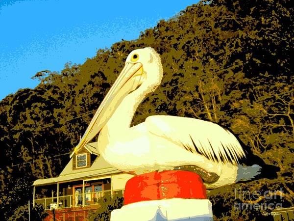 Pelican Mixed Media - Pelican Friend 1 by Leanne Seymour