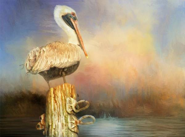 Photograph - Pelican On Pole by Alice Gipson
