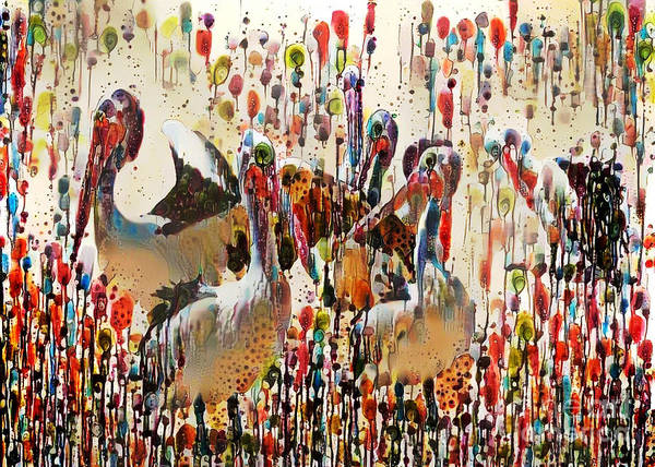 Hundred Mixed Media - Pelican Pals. by Trudee Hunter