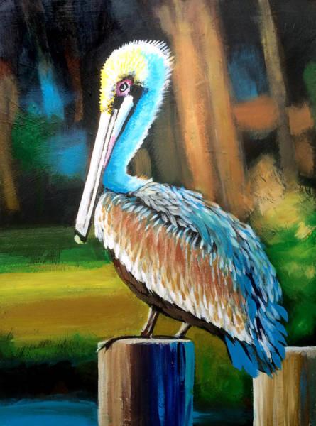 Wall Art - Painting - Pelican by Robert Korhonen