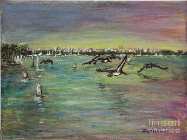 Painting - Pelicans Fly by Janis Lee Colon