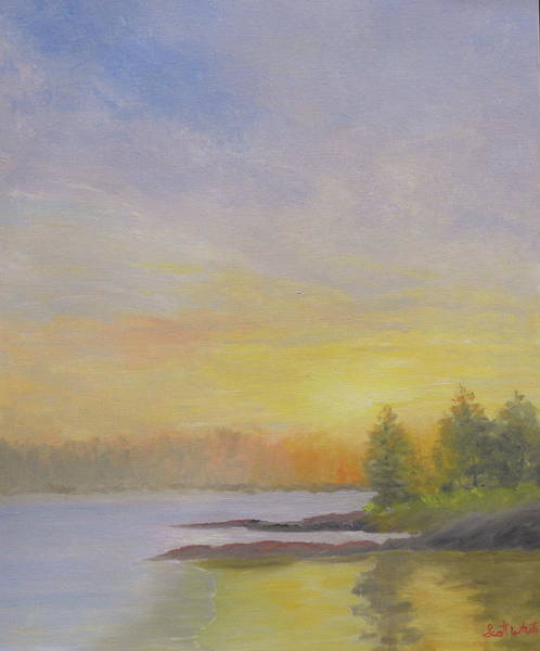 Pemaquid Beach Sunset Art Print