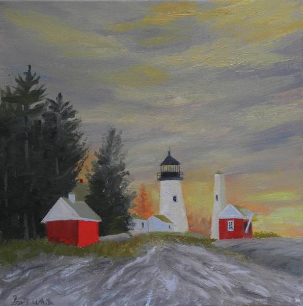 Painting - Pemaquid Light South View by Scott W White