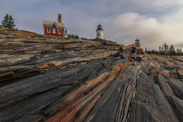 Photograph - Pemaquid Point Cliffs by Kristen Wilkinson