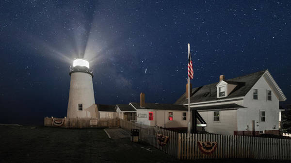 Photograph - Pemaquid Point Light Flare by Colin Chase