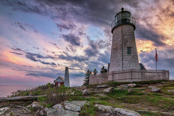 Photograph - Pemaquid Point Lighthouse At Sundown by Kristen Wilkinson