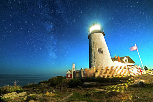 Photograph - Pemaquid Point Lighthouse Bristol Road Maine by Toby McGuire