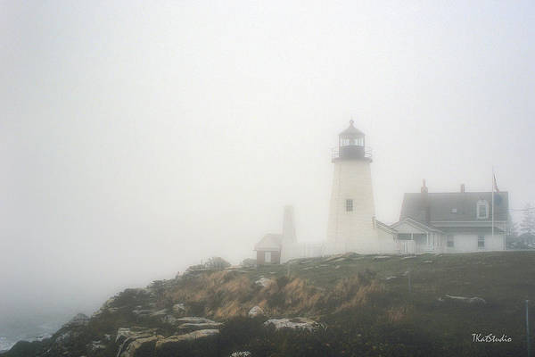 Photograph - Pemaquid Point Lighthouse In Fog by Tim Kathka