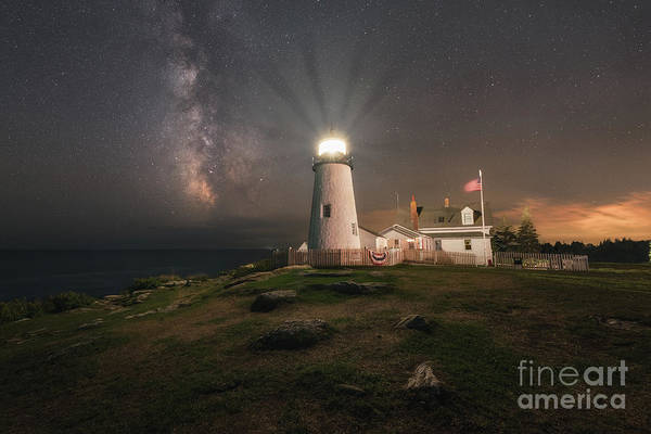 Wall Art - Photograph - Pemaquid Point Lighthouse Milky Way by Michael Ver Sprill