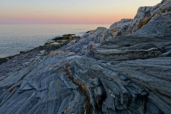 Photograph - Pemaquid Point Rock Formation At Sunset Pemquid Me by Toby McGuire