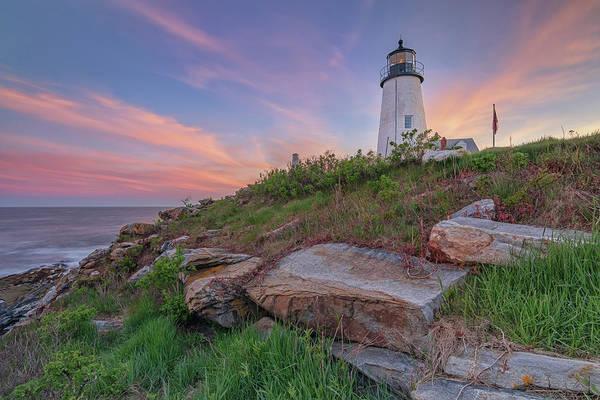 Photograph - Pemaquid Point Sunset by Kristen Wilkinson