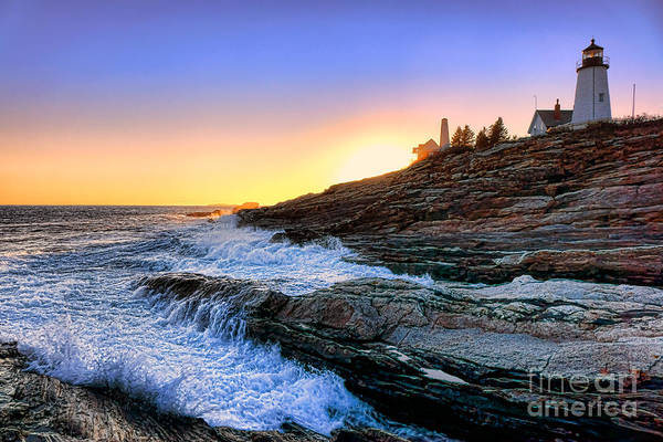 Photograph - Pemaquid Point Sunset by Olivier Le Queinec