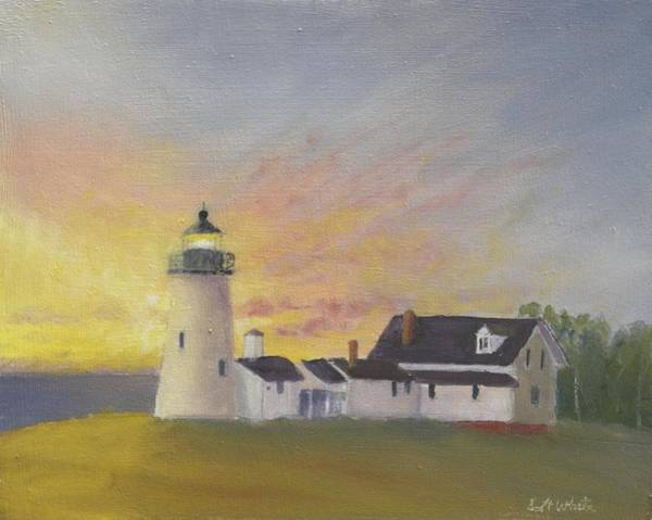 Pemaquid's First Light Art Print