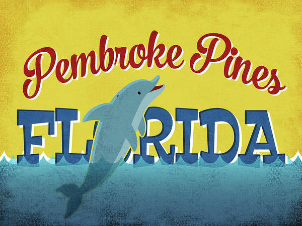 Advertisement Digital Art - Pembroke Pines Florida - Dolphin by Flo Karp
