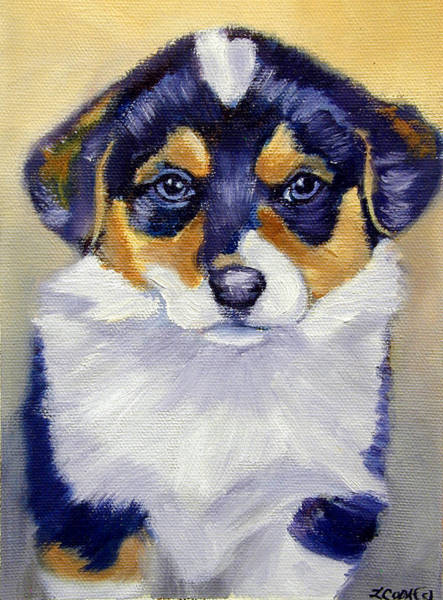 Wall Art - Painting - Pembroke Welsh Corgi Pup by Lyn Cook
