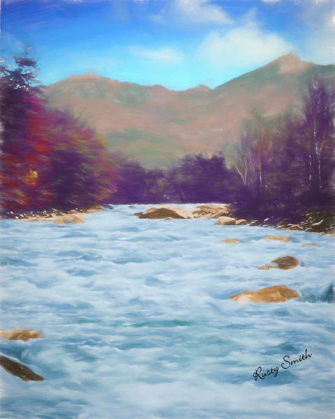 Digital Art -  Pemigewasset River White Mountains New Hampshire. by Rusty R Smith